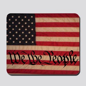 WE THE PEOPLE WITH FLAG OF AMERICA Mousepad
