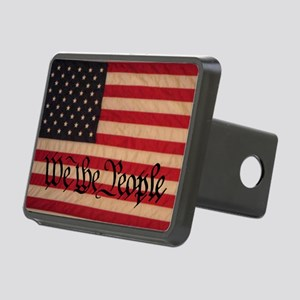 WE THE PEOPLE WITH FLAG OF Rectangular Hitch Cover