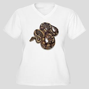 SAM_0191squarewhi Women's Plus Size V-Neck T-Shirt