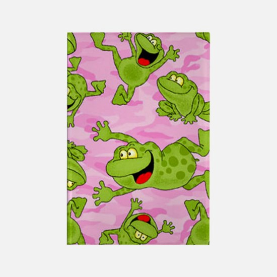 Leaping Frogs Rectangle Magnet