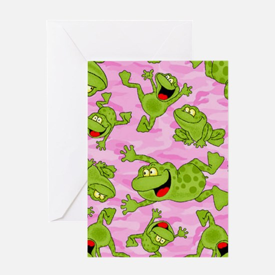 Leaping Frogs Greeting Card