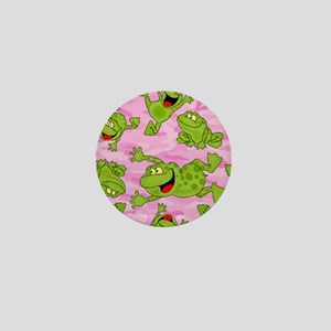 Leaping Frogs Mini Button
