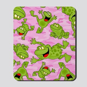 Leaping Frogs Mousepad