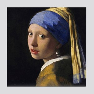Pillow Vermeer Pearl Tile Coaster