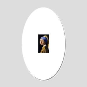 RM Vermeer Pearl 20x12 Oval Wall Decal