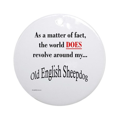 Sheepdog World Ornament (Round)