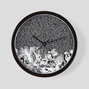 alice-vintage-border_black_14-333x18v2 Wall Clock