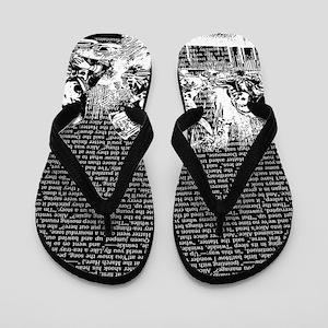 alice-vintage-border_black_14-333x18v2 Flip Flops