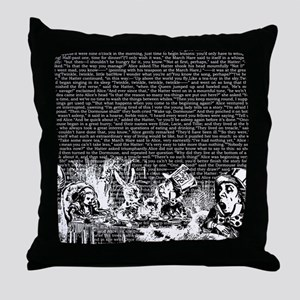alice-vintage-border_black_14-333x18v Throw Pillow