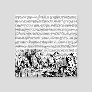 "alice-vintage-border_bw_14- Square Sticker 3"" x 3"""