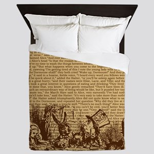 alice-vintage-border_brown_14-333x18v2 Queen Duvet