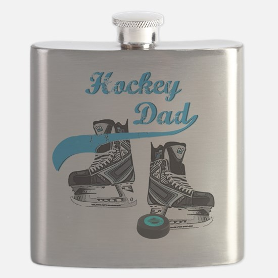 hockey_dad_blue Flask