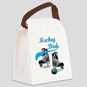 hockey_dad_blue Canvas Lunch Bag