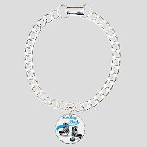 hockey_dad_blue Charm Bracelet, One Charm