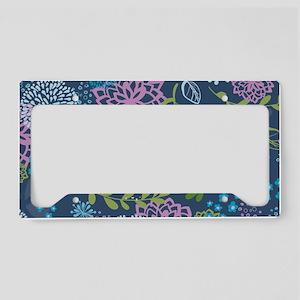 LayerFlowers_Blue_1_44 License Plate Holder