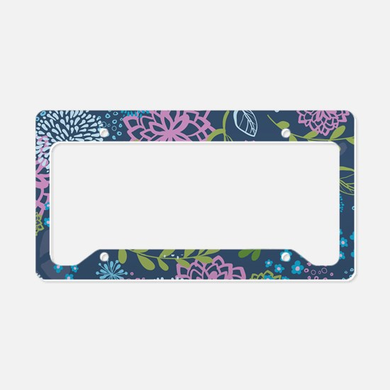LayerFlowers_Blue_1_44 License Plate Holder