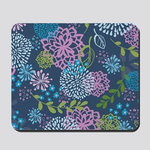 LayerFlowers_Blue_1_44 Mousepad