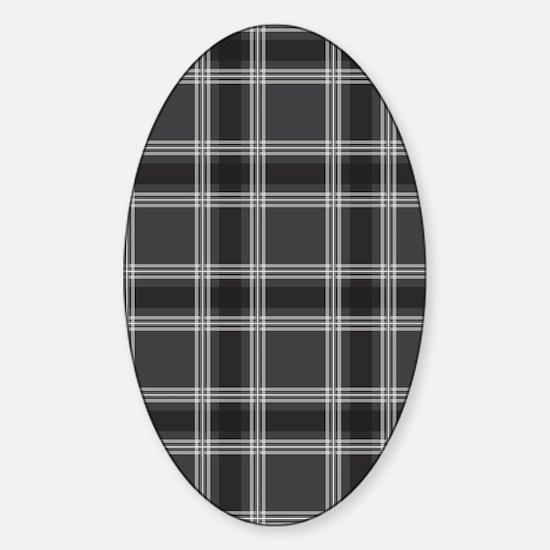 PlaidClassic_Black1_78 Sticker (Oval)