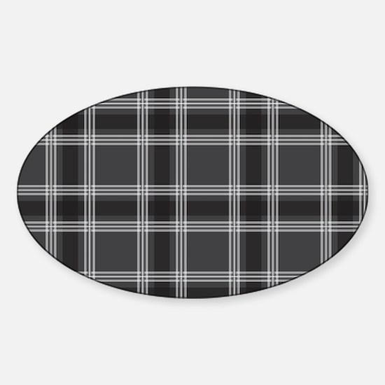 PlaidClassic_Black1_1_28 Sticker (Oval)