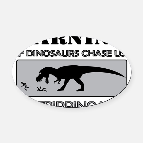 dino-trip-0-2-a Oval Car Magnet