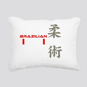 bjj white copy Rectangular Canvas Pillow