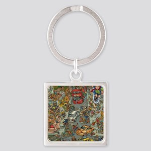 CharlzFromMarzCover Square Keychain