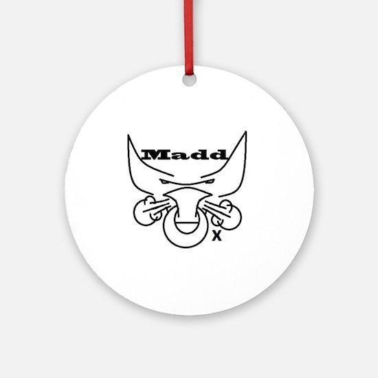 Madd Ox 2 Round Ornament