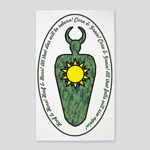 Horned God with words 3'x5' Area Rug