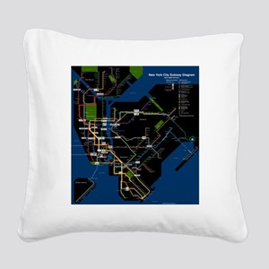 2000px-NYC_subway_late_night_ Square Canvas Pillow