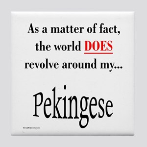 Pekingese World Tile Coaster