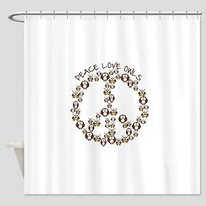 peaceloveowls Shower Curtain