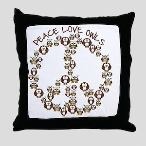 peaceloveowls Throw Pillow