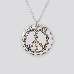 peaceloveowls Necklace Circle Charm