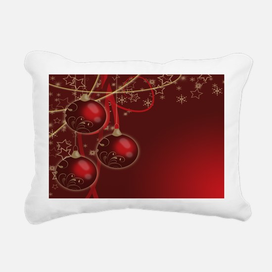 Christmas ball_laptop_sk Rectangular Canvas Pillow