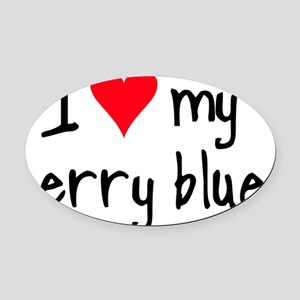 iheartkerryblue Oval Car Magnet