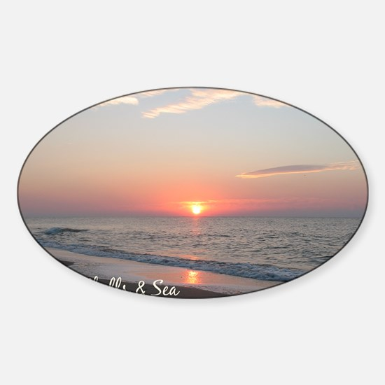 calendar cover sandhills sea Sticker (Oval)