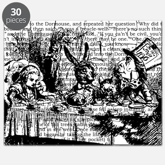 alice-vintage-border_bw_12-5x13-5h Puzzle