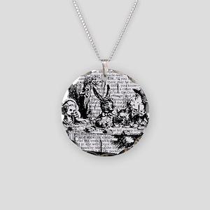alice-vintage-border_bw_12-5 Necklace Circle Charm