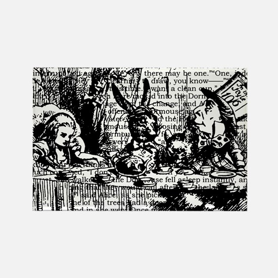 alice-vintage-border_bw_12-5x13-5 Rectangle Magnet