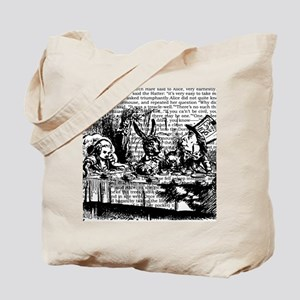 alice-vintage-border_bw_12-5x13-5h Tote Bag