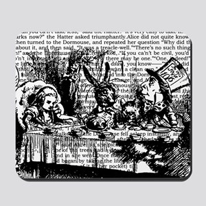 alice-vintage-border_bw_12-5x13-5h Mousepad