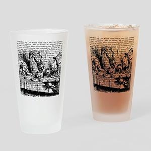 alice-vintage-border_bw_12-5x13-5h Drinking Glass