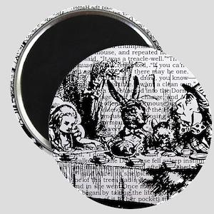 alice-vintage-border_bw_12-5x13-5h Magnet