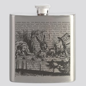 alice-vintage-border_bw_12-5x13-5h Flask