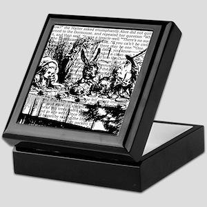 alice-vintage-border_bw_12-5x13-5h Keepsake Box