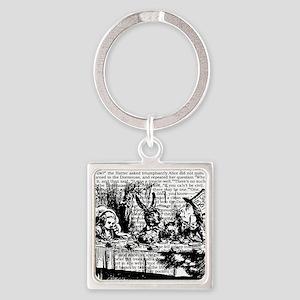 alice-vintage-border_bw_12-5x13-5h Square Keychain