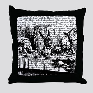 alice-vintage-border_bw_12-5x13-5h Throw Pillow