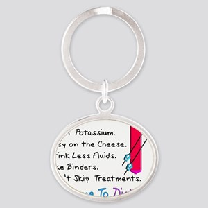 Welcome to dialysis Oval Keychain