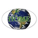 Home Oval Sticker