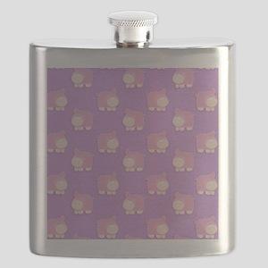 Pink Hippo Purple Flip Flops Flask